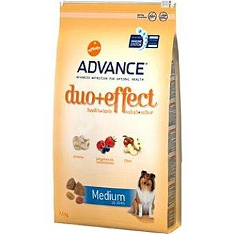 Advance Affinity Alimento de alta gama para perro adulto de raza medium con frutas y pollo con arroz Duo+effect Bolsa 7,5 kg