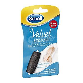 Scholl Velvet smooth cabezal de recambio de lima eléctronica Envase 2 u