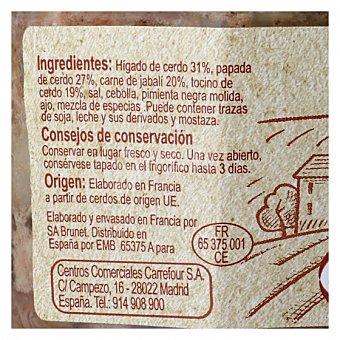 Carrefour Paté de jabalí 180 G 180 g