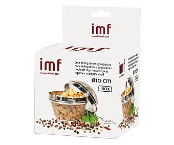 IMF Bola para cocer legumbres fabricada en acero inoxidable, 10 centímetros de diámetro 1 unidad