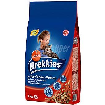 Brekkies Affinity Para gato con buey y verduras Bolsa 1,5 kg