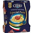 Tomate natural especial pasta Pack 2x350 g Cirio