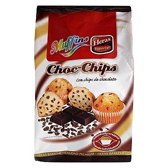 Heras Magdalenas Muffins con pepitas de chocolate 256 G 256 g