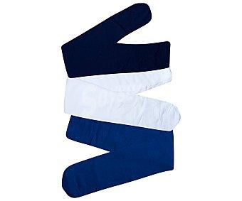 In Extenso Pack de 3 pantys de 40den para niña color azul marino/azul petróleo/crudo, talla 4/5