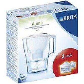 Brita Jarra filtrante con 2 filtros Aluna blanca Pack 1 unid