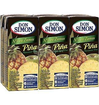 Don Simón Zumo piña manzana-uva 6 unidades 200 ml