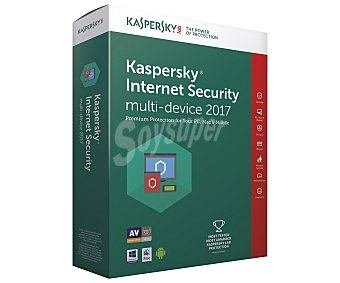 Kaspersky internet Antivirus Security 2017, 2 usuarios