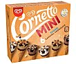 Mini conos clásicos (2), caramelo (2) y chocolate (2) 6 x 60 ml Cornetto Frigo
