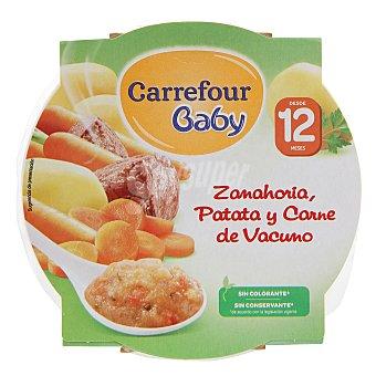 Carrefour Baby Plato de patata, zanahoria y carne 260 g