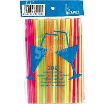 NV. Cañas fluorescentes Bolsa 100 unid