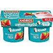 Especialidad vegetal de coco cremoso con fresa pack 2 unidades 120 g pack 2 unidades 120 g Andros