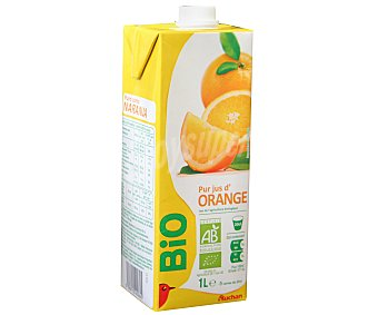 Auchan Zumo de naranja ecológico 1 litro