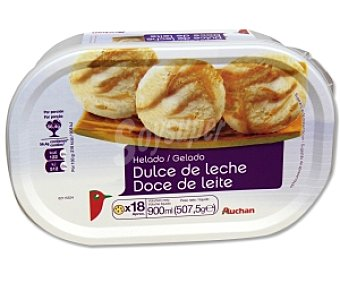 Auchan Helado de dulce de leche Tarrina de 900 mililitros