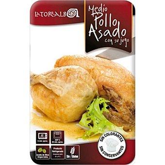 La Torralba 1/2 pollo asado en su jugo Envase 600 g