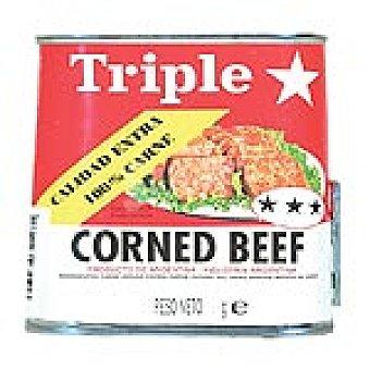 TRIPLE ESTRELLA Corned beef Lata 190 g