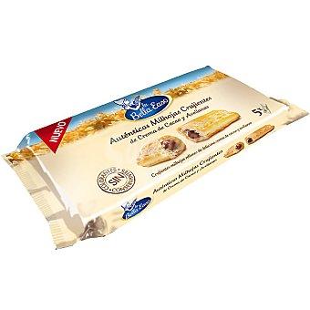 La Bella Easo Milhojas crujientes rellenas de crema cacao y avellanas Paquete 125 g