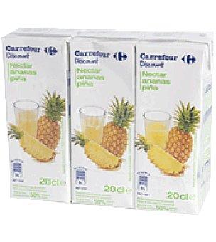 Carrefour Discount Néctar de piña Pack de 3