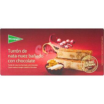 El Corte Inglés Turrón de nata y nuez bañado con chocolate Calidad Suprema Tableta 300 g