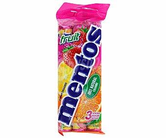 Mentos Caramelos sabor frutas Pack 3 u x 12 u