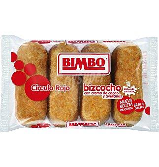 Bimbo Bizcocho relleno de cacao circulo rojo 4 UNI