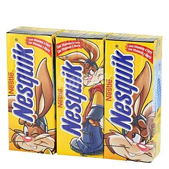 NESTLE NESQUIK Batido de cacao pack 3 envases 200 ml