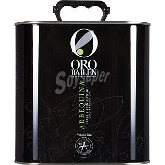 ORO BAILEN Reserva Familiar Aceite de oliva virgen extra Arbequina Lata 2,5 l