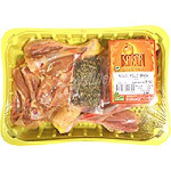 SABOR Muslos de pollo para brasa peso aproximado Bandeja 500 g