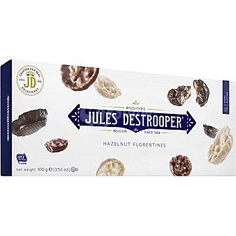 Jules destrooper Florentinas de avellanas y arroz crujiente recubiertas de chocolate estuche 100 g estuche 100 g