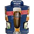 Cerveza Pack de 5 botellas de 50 cl + Vaso regalo Paulaner