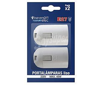 Hidalgo Clavijas y adaptadores, portalamparas liso E27 color blanco