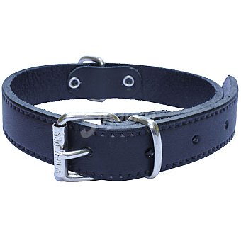 SAN DIMAS Collar de cuero liso color negro para perro medida 40x700 mm  1 unidad