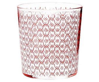 LUMINARC Kenia Vaso Kenia de 0,36 litros decorado en color rojo, luminarc. 0,36 litros