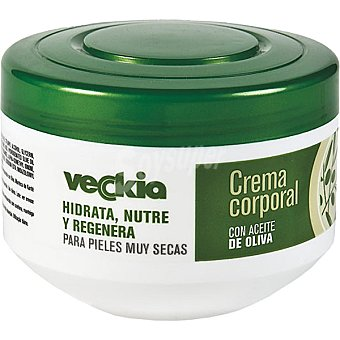 Veckia Crema corporal con aceite de oliva para pieles muy secas tarro 250 ml hidrata nutre y regenera Tarro 250 ml