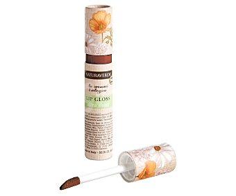 Naturaverde Brillo de labios con efecto brillo y volumen, tono 007 Marrón oscuro NATURAVERDE.