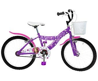 TOIMSA Bicicleta Violetta, 1 Velocidad, 20 Pulgadas 1 Unidad