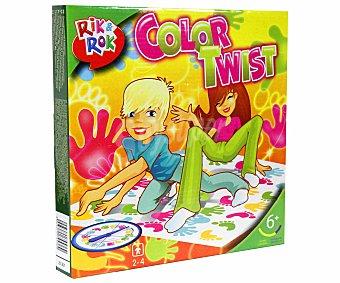 Rik&Rok Auchan Juego de Equilibrio y Habilidad Sigue el Color, Color Twist, de 2 a 4 Jugadores 1 Unidad