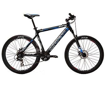 PRO TEAM Bicicleta de montaña de 27,5 pulgadas, cuadro de aluminio, frenos de disco, 24 velocidades 1 Unidad