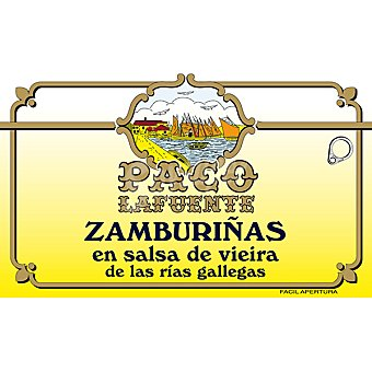 PACO Zamburiñas en salsa de vieiras Lata 65 g neto escurrido