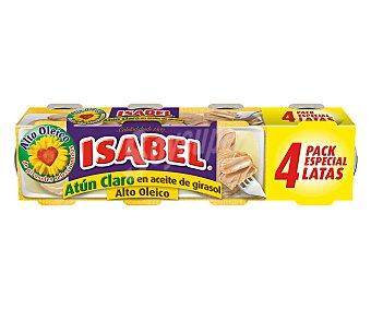 Isabel Atún claro en aceite de girasol alto oleico 4 unid