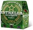 Cerveza rubia nacional Pack de 6 botellines x 25 cl Estrella Levante