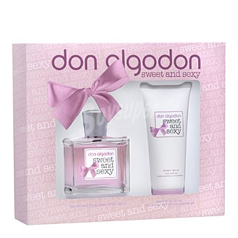Don Algodón Estuche Colonia Sweet and Sexy spray 100ml. + body loción 100ml. 1 ud