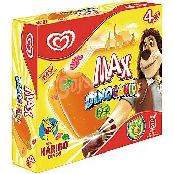 Frigo Helados con zumo de frutas Max Dinocandy estuche 200 ml 4 unidades