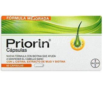 PRIORIN Biotina con L- Cistina y extracto de Mijo que ayuda a mantener el cabello sano, 60 C