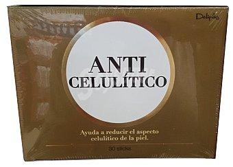 Deliplus Anticelulítico en stick para tomar (sabor afrutado) con extracto orujo de uva y castaño de indias Caja 30 u