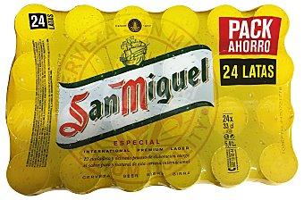 SAN MIGUEL cerveza rubia premium especial  pack 24 latas 33 cl
