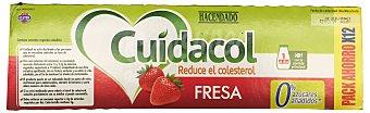 Hacendado Yogur líquido cuidacol fresa 12 unidades de 100 g (1200 g)