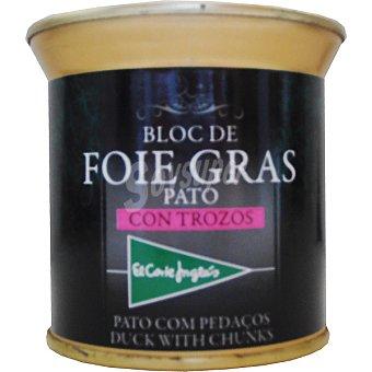 El Corte Inglés Bloc foie gras con trozos de pato Lata 200 g