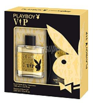PlayBoy Estuche Colonia Vip spray 100 ml. + gel 250 ml. 1 ud