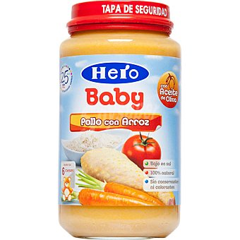 HERO BABY tarrito de pollo con arroz 100% natural envase 235 g