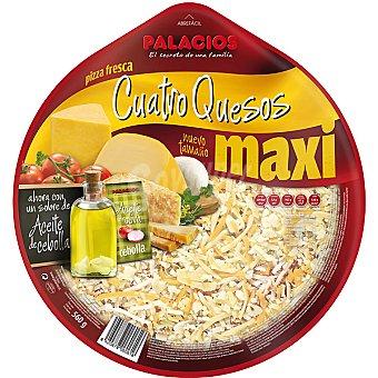 Palacios Pizza masa fina cuatro quesos con un sobre con aceite de oliva de cebolla Envase 580 g
